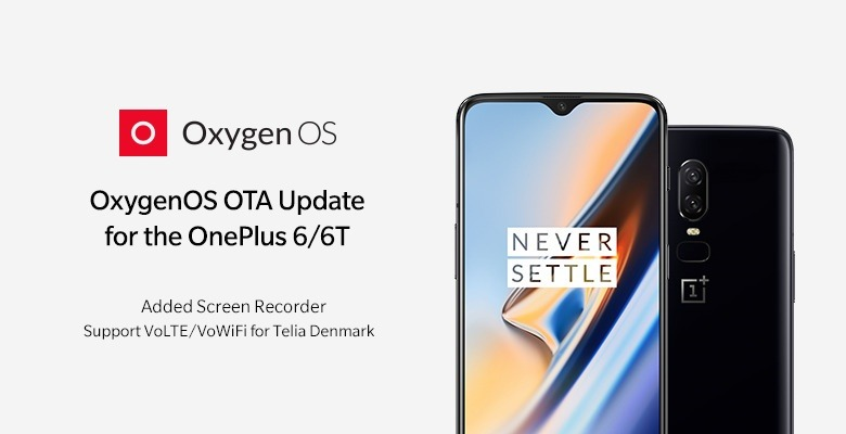 Oxygen OS update for OnePlus 6/6T