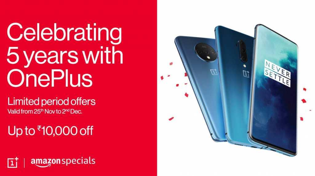 Amazon India 5 yeas with OnePlus